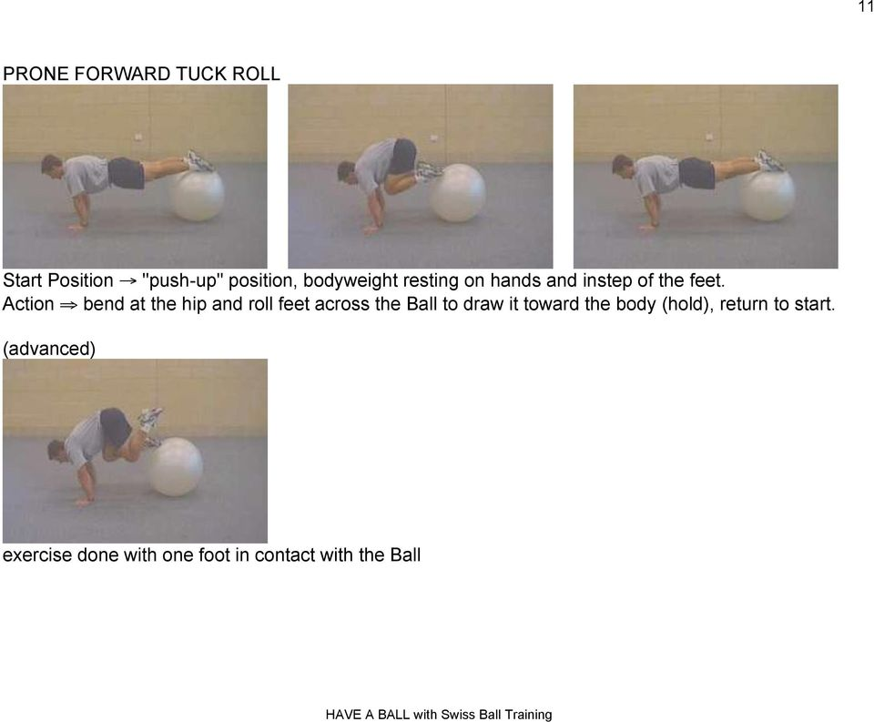 "Action "" bend at the hip and roll feet across the Ball to draw it"