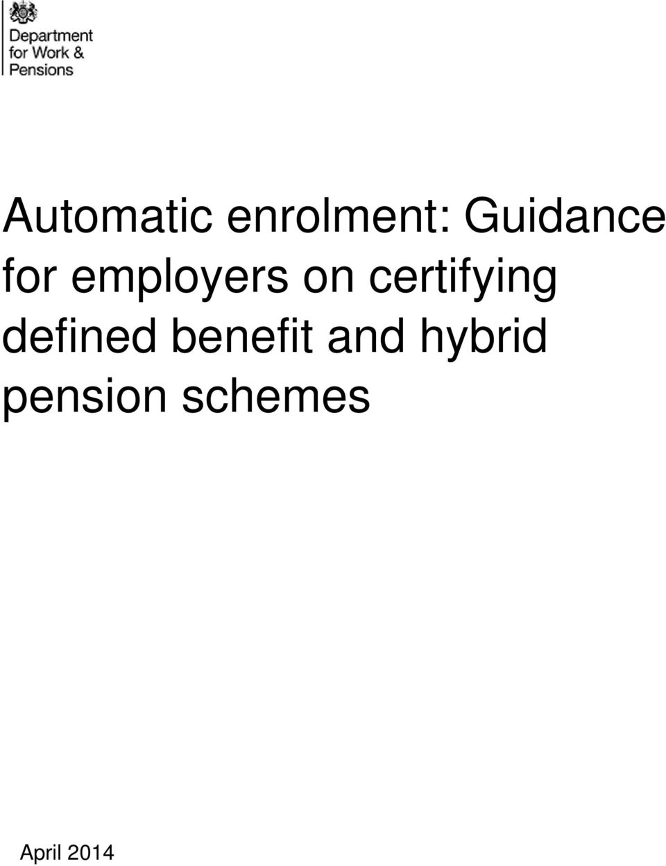 certifying defined benefit