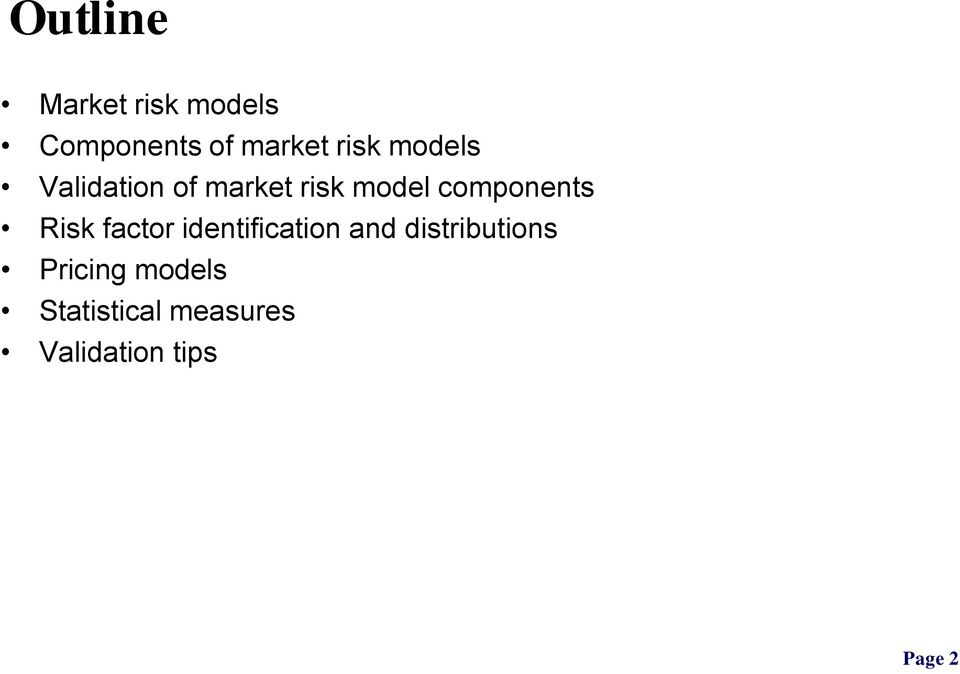 components Risk factor identification and