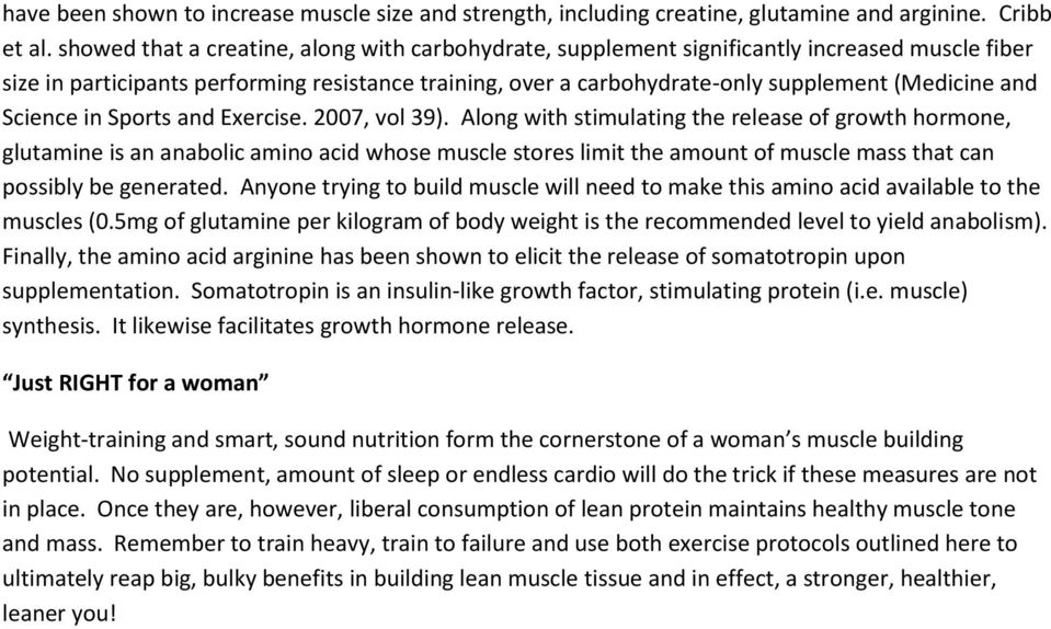 Science in Sports and Exercise. 2007, vol 39).
