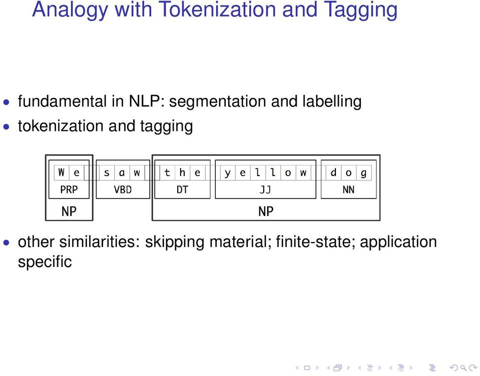 labelling tokenization and tagging other