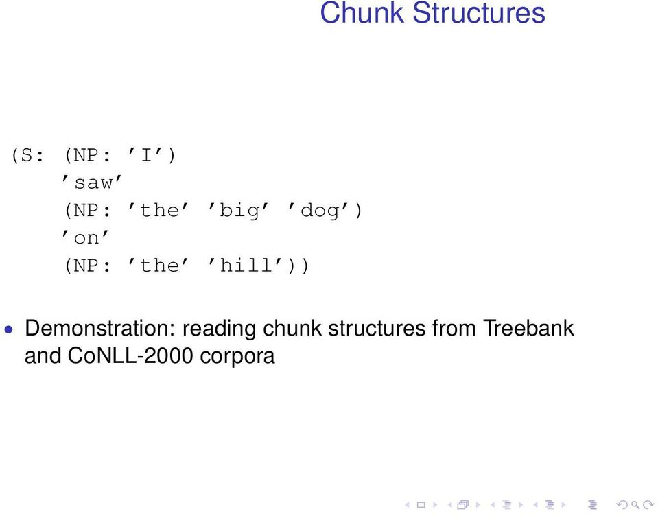 )) Demonstration: reading chunk