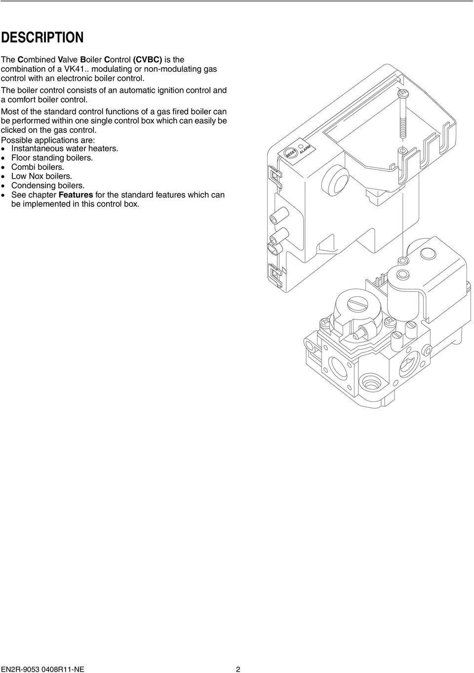 s4965 series combined valve and boiler control systems