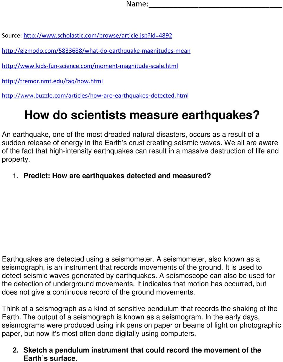earthquakes and how we measure their Geologists use seismic waves to locate an earthquake's epicenter  they measure the difference between the arrival times of the p waves and s waves the farther away an earthquake is, the greater the time between the arrival of the p waves and the s waves  chapter 6 earthquakes section 2 earthquakes and seismic waves 21 terms 22 40.
