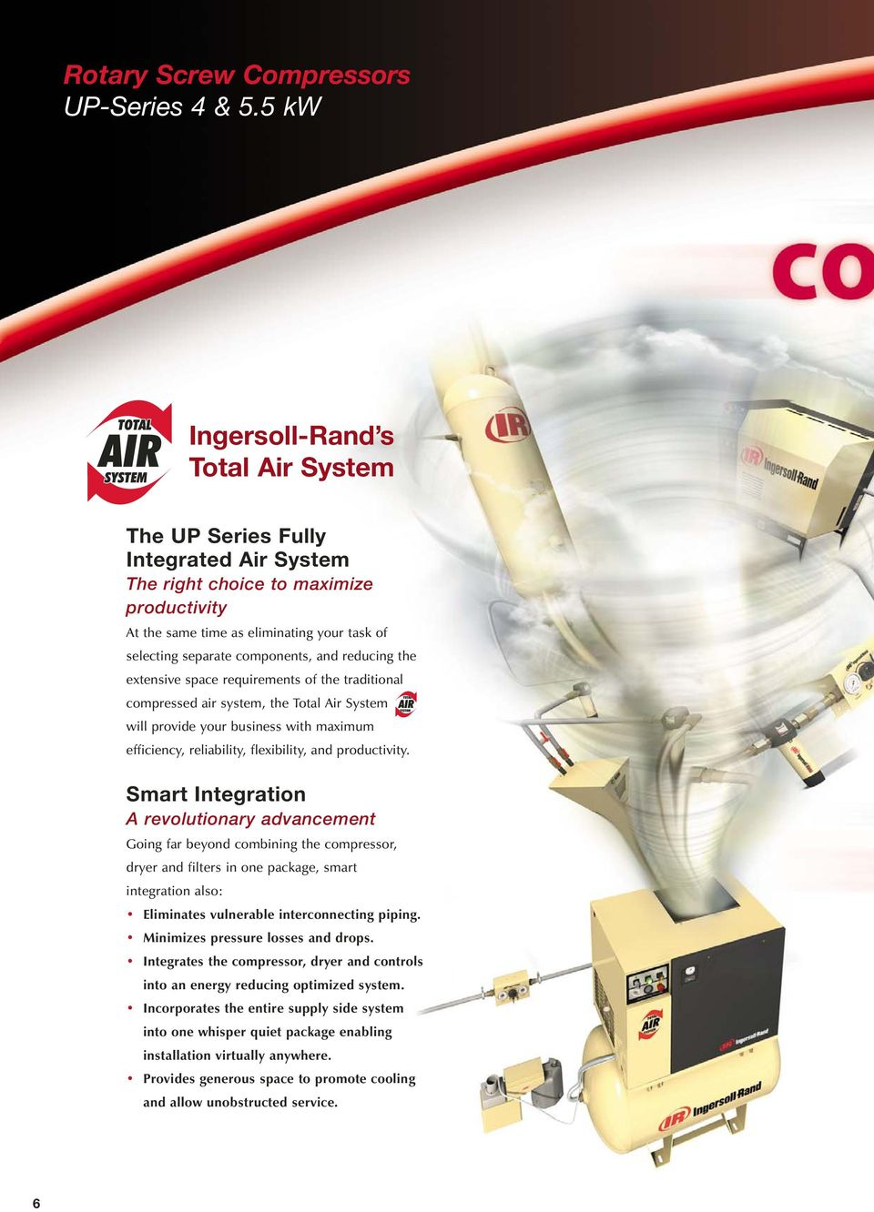 and reducing the extensive space requirements of the traditional compressed air system, the Total Air System TAS will provide your business with maximum efficiency, reliability, flexibility, and