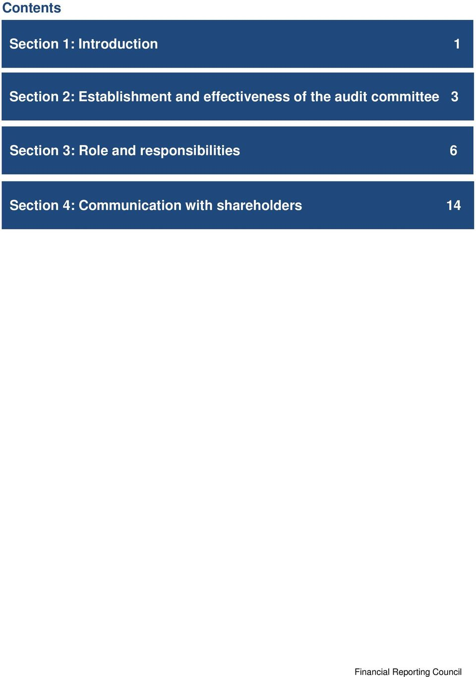 committee 3 Section 3: Role and responsibilities 6