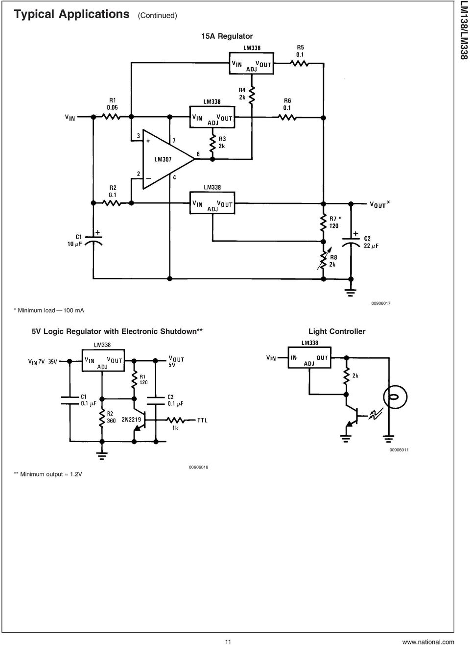 Regulator with Electronic Shutdown** Light Controller