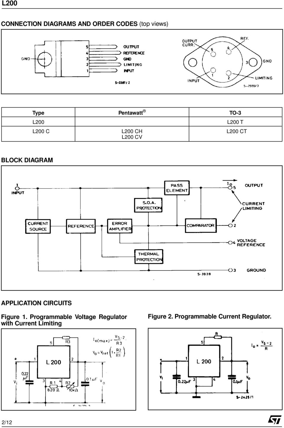 APPLICATION CIRCUITS Figure 1.
