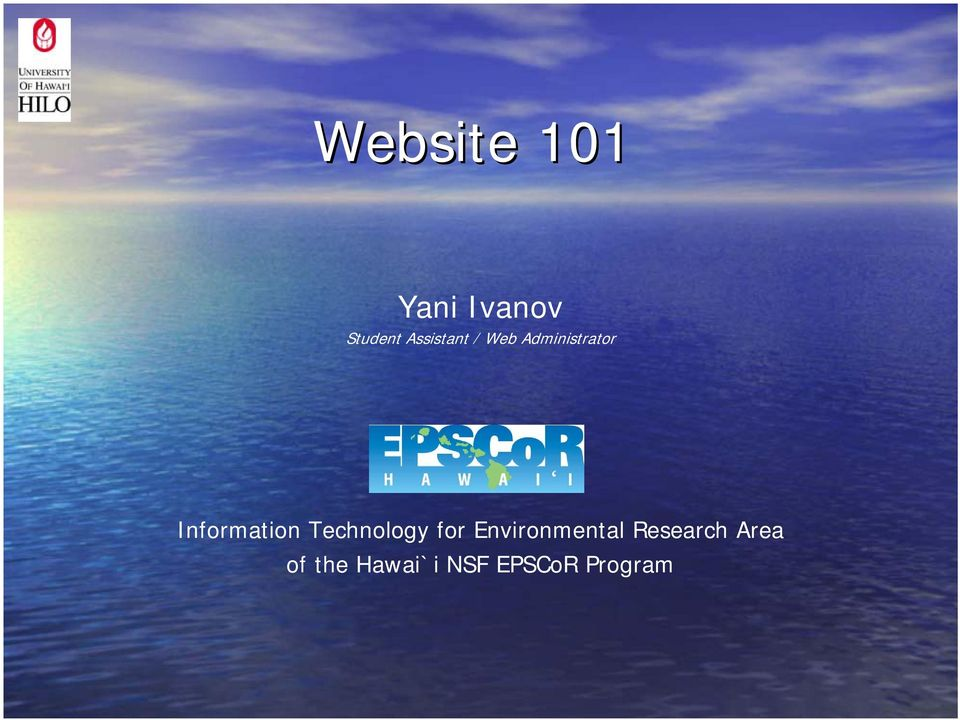 Information Technology for