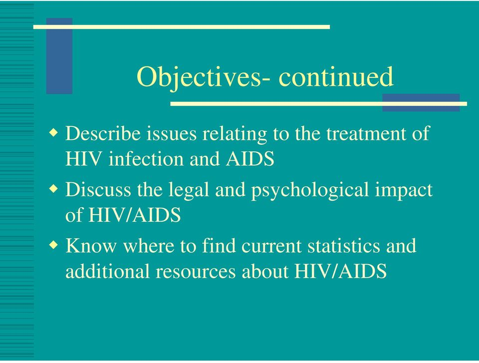 and psychological impact of HIV/AIDS Know where to find
