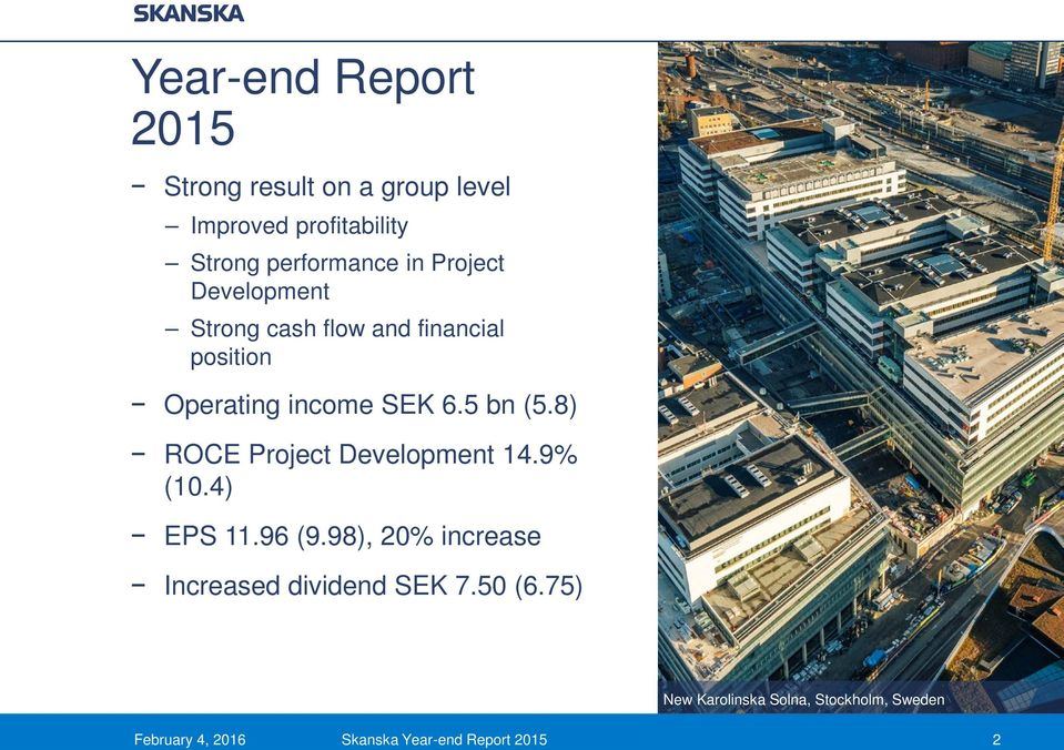 8) ROCE Project Development 14.9% (10.4) EPS 11.96 (9.
