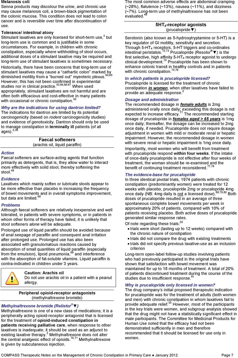 COMPASS Therapeutic Notes on the Management of Chronic