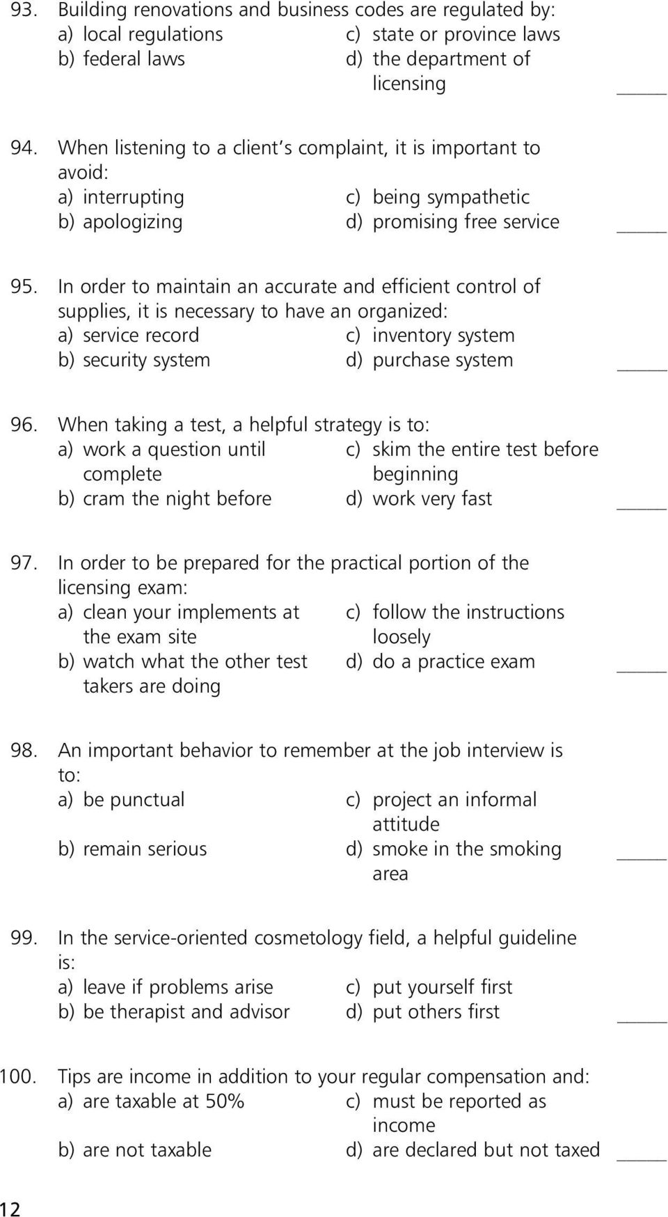 Vistoso Vtct Anatomy And Physiology Multiple Choice Questions ...