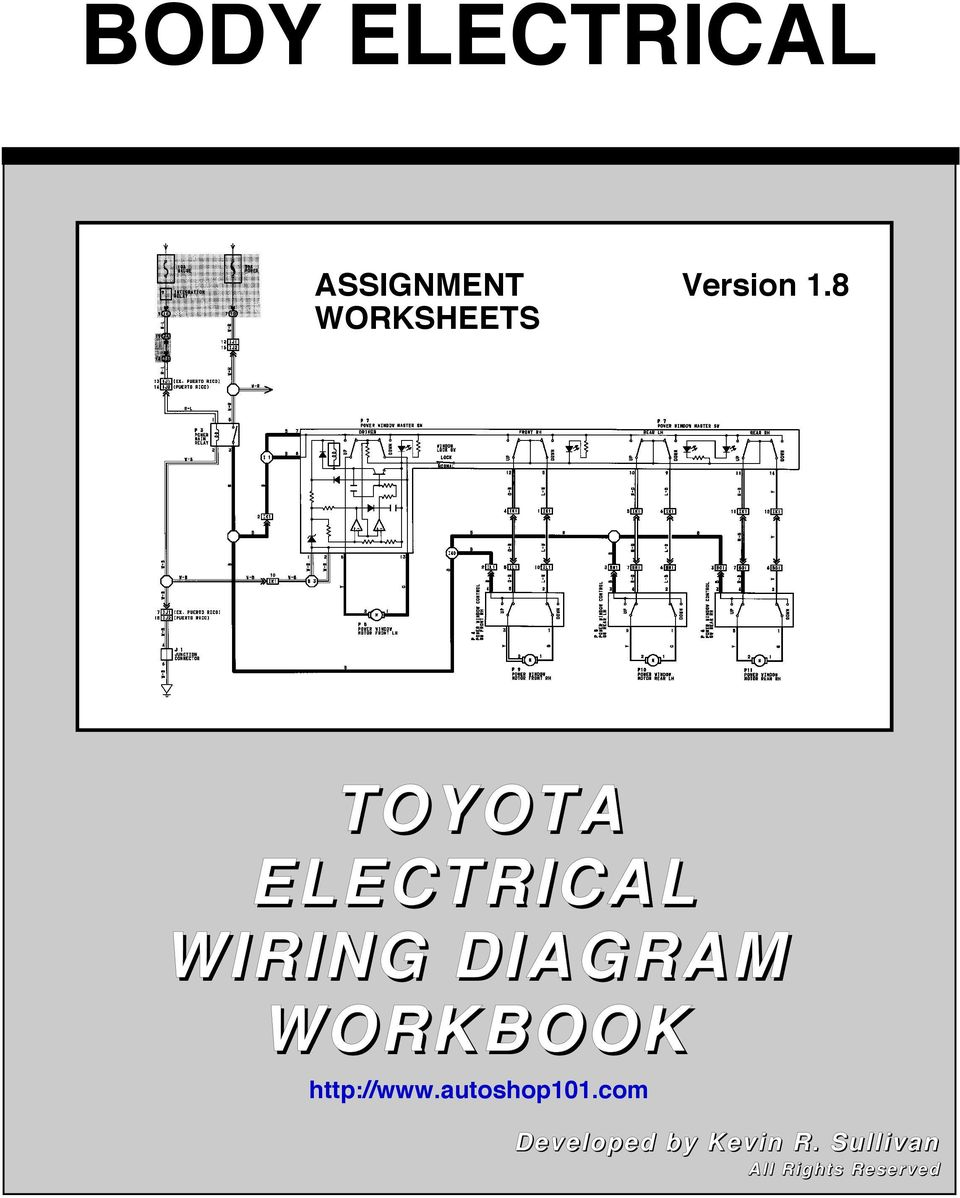 1999 Toyota Camry Wiring Diagram : Toyota electrical wiring diagram workbook