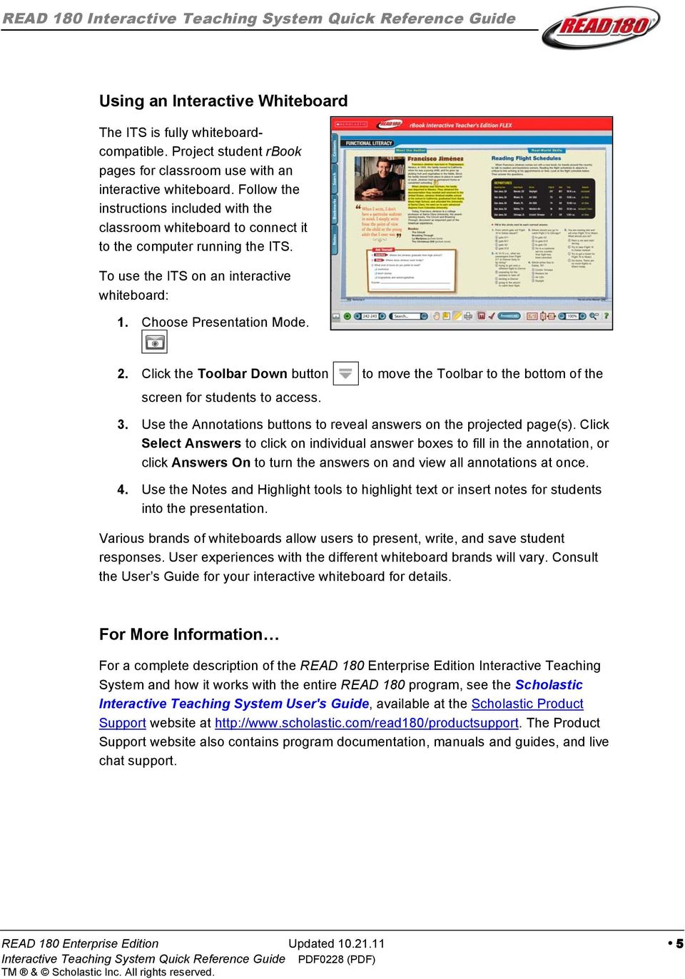 Read 180 Enterprise Edition Interactive Teaching System