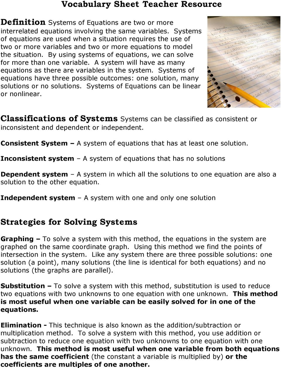 How to solve systems of equations algebraically by using systems of equations we can solve for more than one variable a robcynllc Images