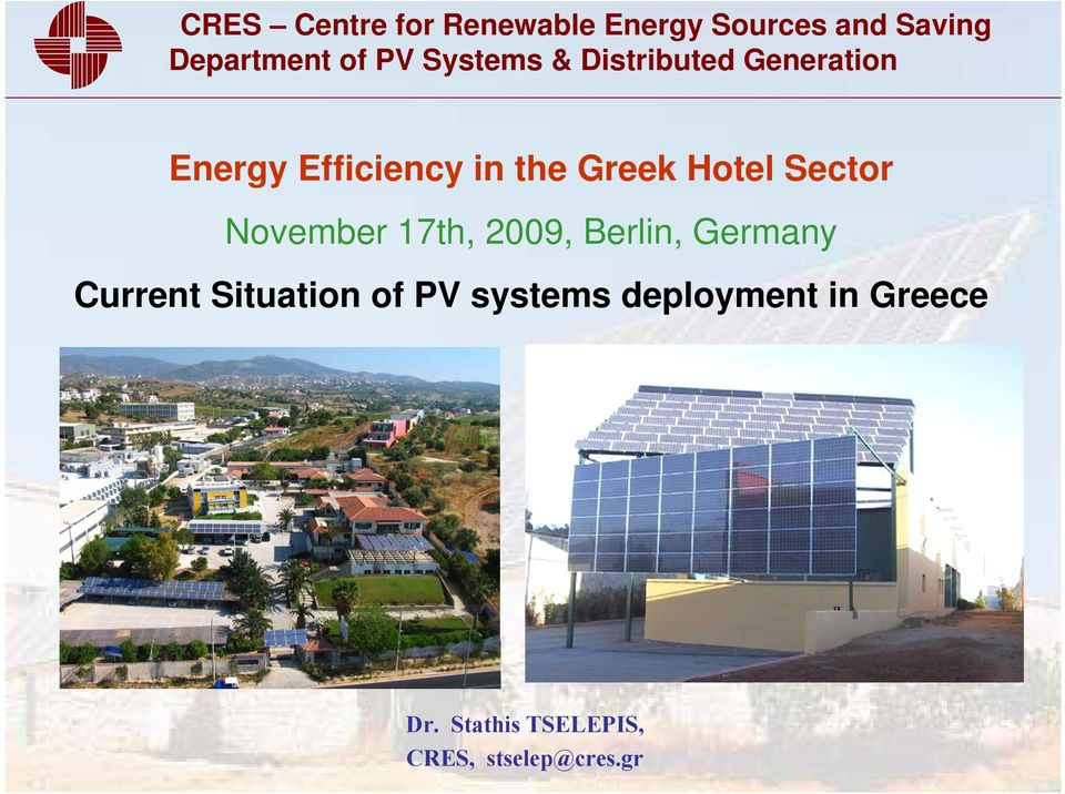 Situation of PV systems deployment in Greece