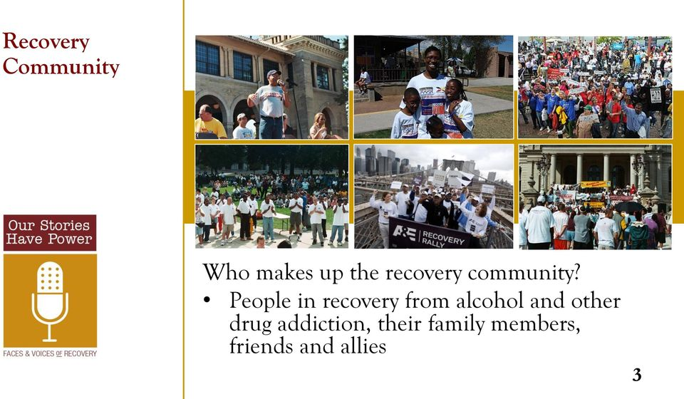 People in recovery from alcohol and