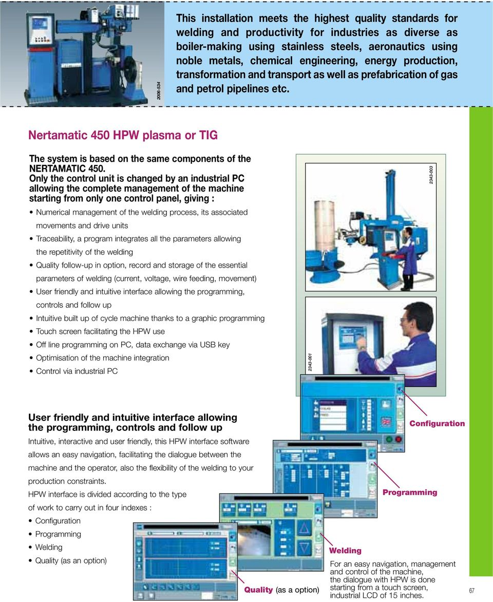 Nertamatic 450 HPW plasma or The system is based on the same components of the NERTAMATIC 450.