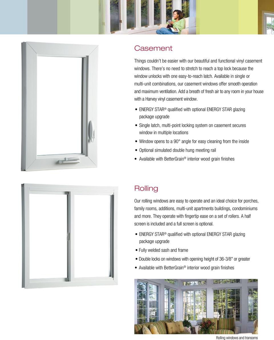 Add a breath of fresh air to any room in your house with a Harvey vinyl casement window.