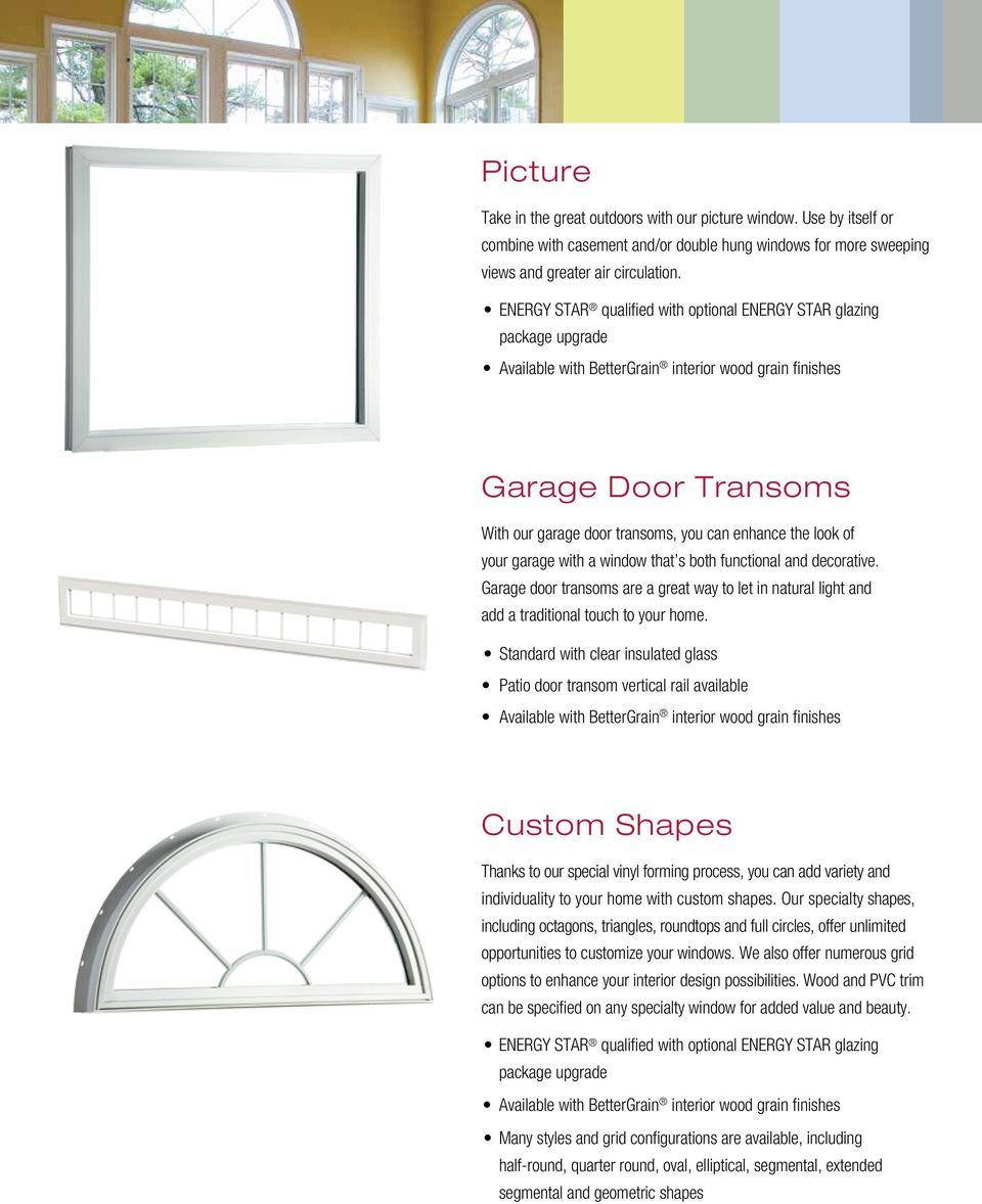 Garage door transoms are a great way to let in natural light and add a traditional touch to your home.