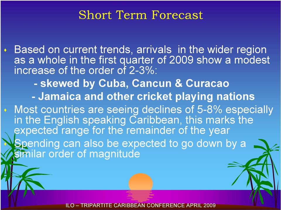 playing nations Most countries are seeing declines of 5-8% especially in the English speaking Caribbean, this
