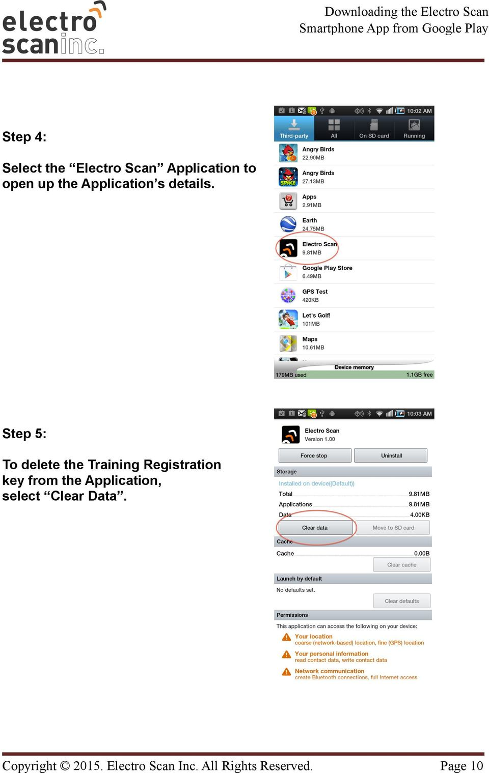 Step 5: To delete the Training Registration key from the