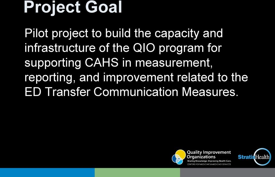 supporting CAHS in measurement, reporting, and