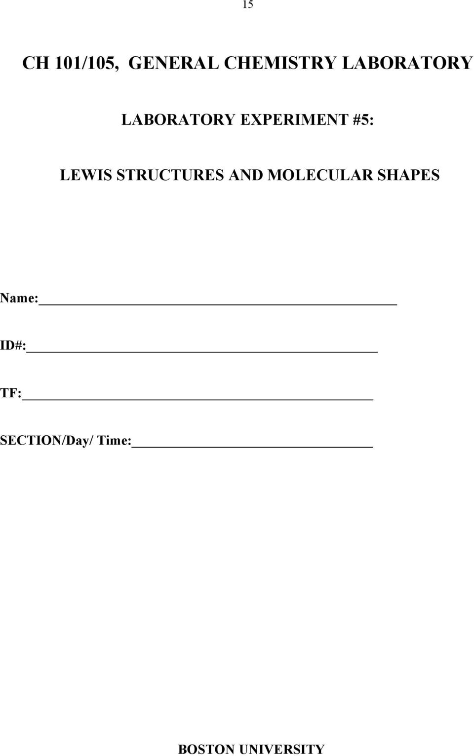 LEWI TRUCTURE AND MOLECULAR HAPE