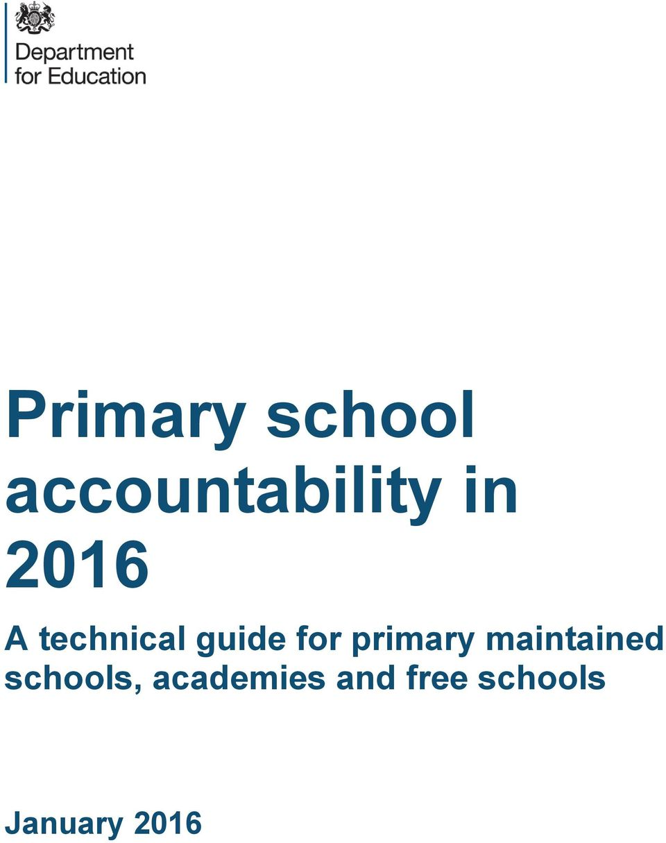 primary maintained schools,