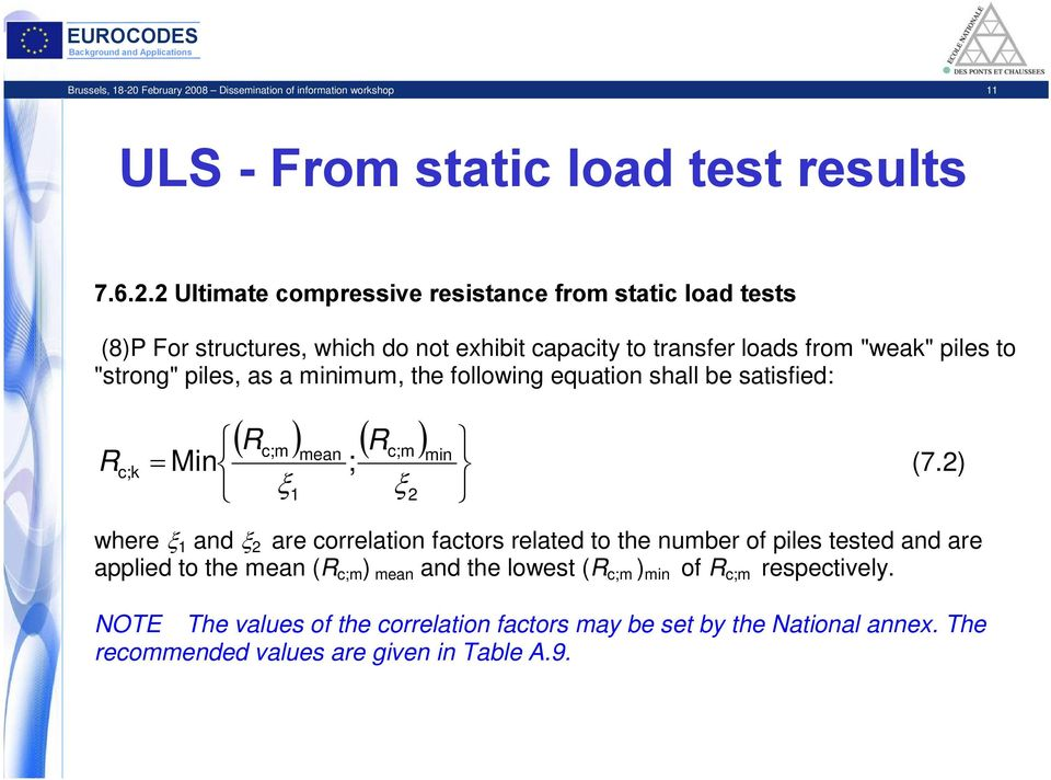 08 Dissemination of information workshop 11 ULS - From static load test results 7.6.2.