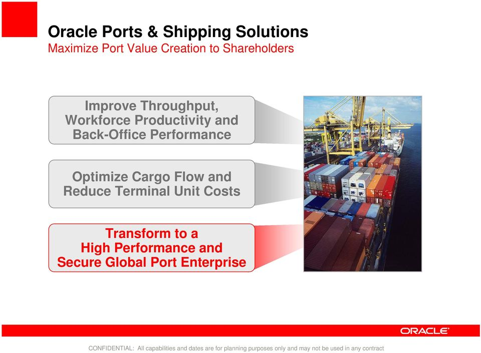 Back-Office Performance Optimize Cargo Flow and Reduce Terminal