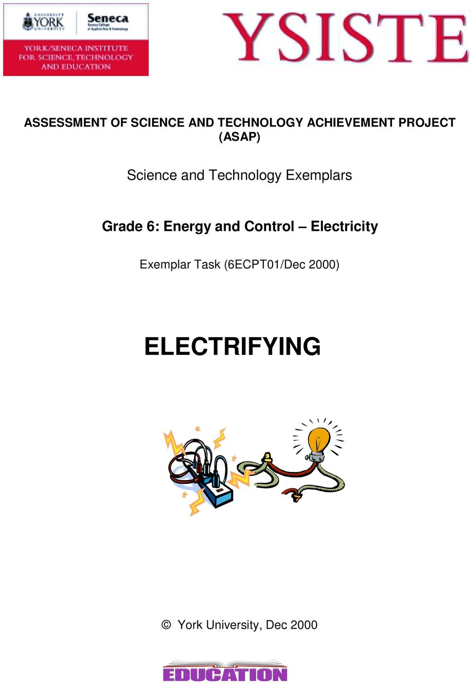 Grade 6: Energy and Control Electricity Exemplar
