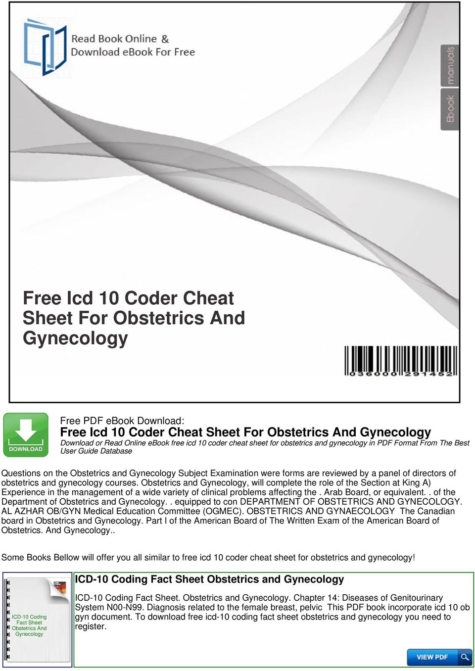 Free icd 10 coder cheat sheet for obstetrics and gynecology pdf obstetrics and will complete the role of the section at king a experience in fandeluxe Choice Image