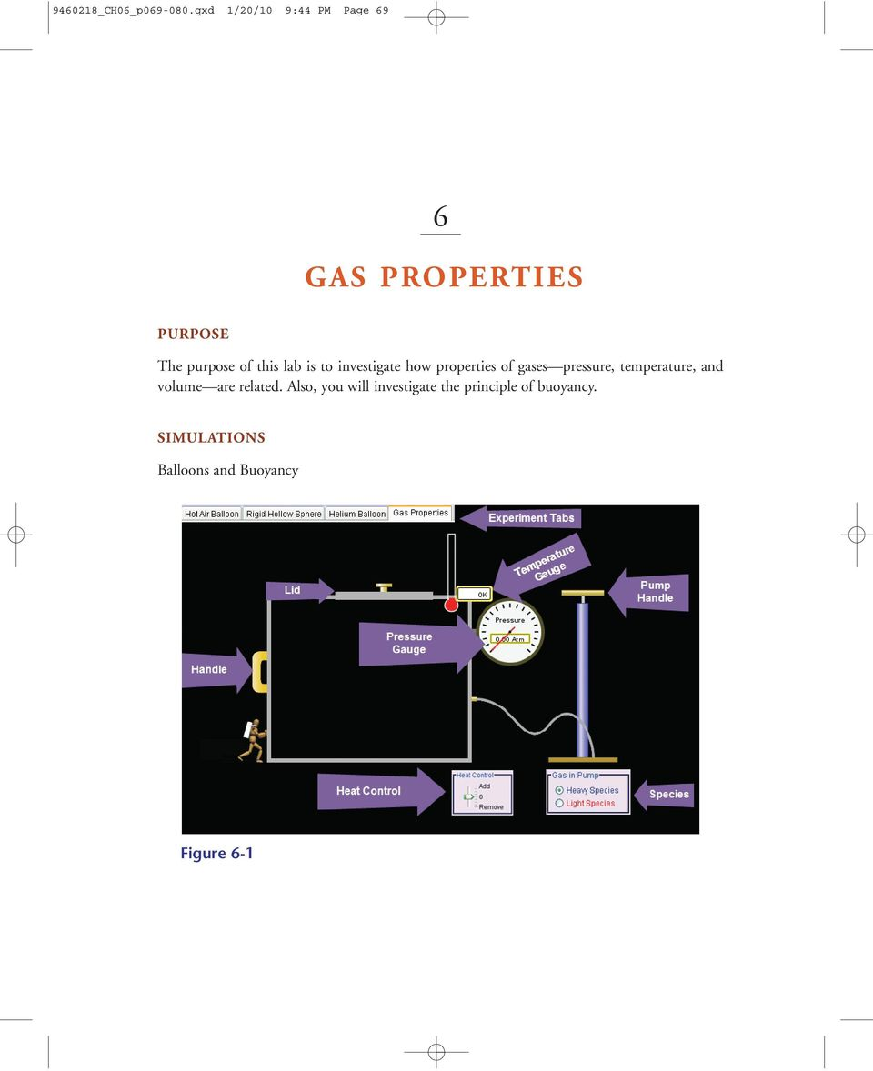 this lab is to investigate how properties of gases pressure,