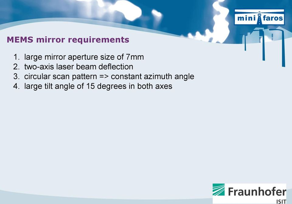 two-axis laser beam deflection 3.