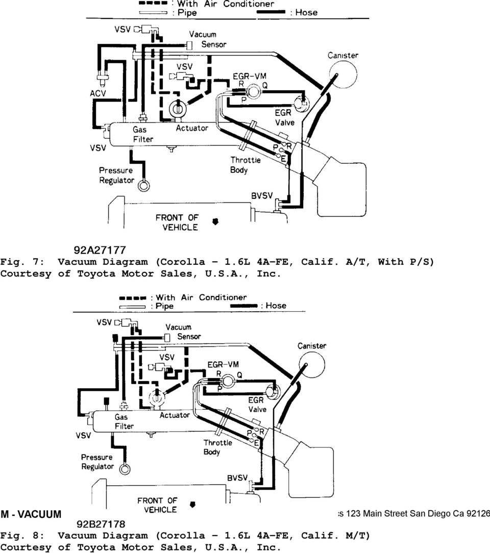 1992 engine performance toyota vacuum diagrams. camry ... 1992 corolla engine diagram #2