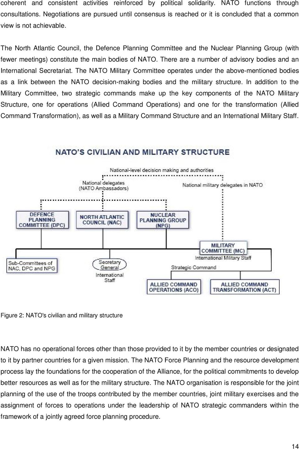 The North Atlantic Council, the Defence Planning Committee and the Nuclear Planning Group (with fewer meetings) constitute the main bodies of NATO.