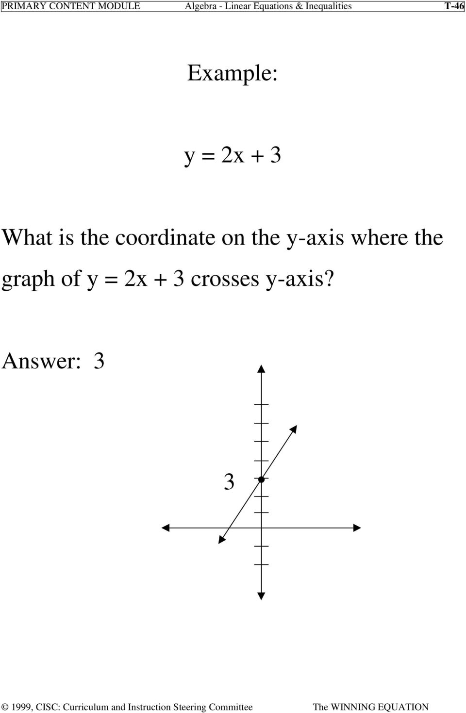 + 3 What is the coordinate on the y-axis
