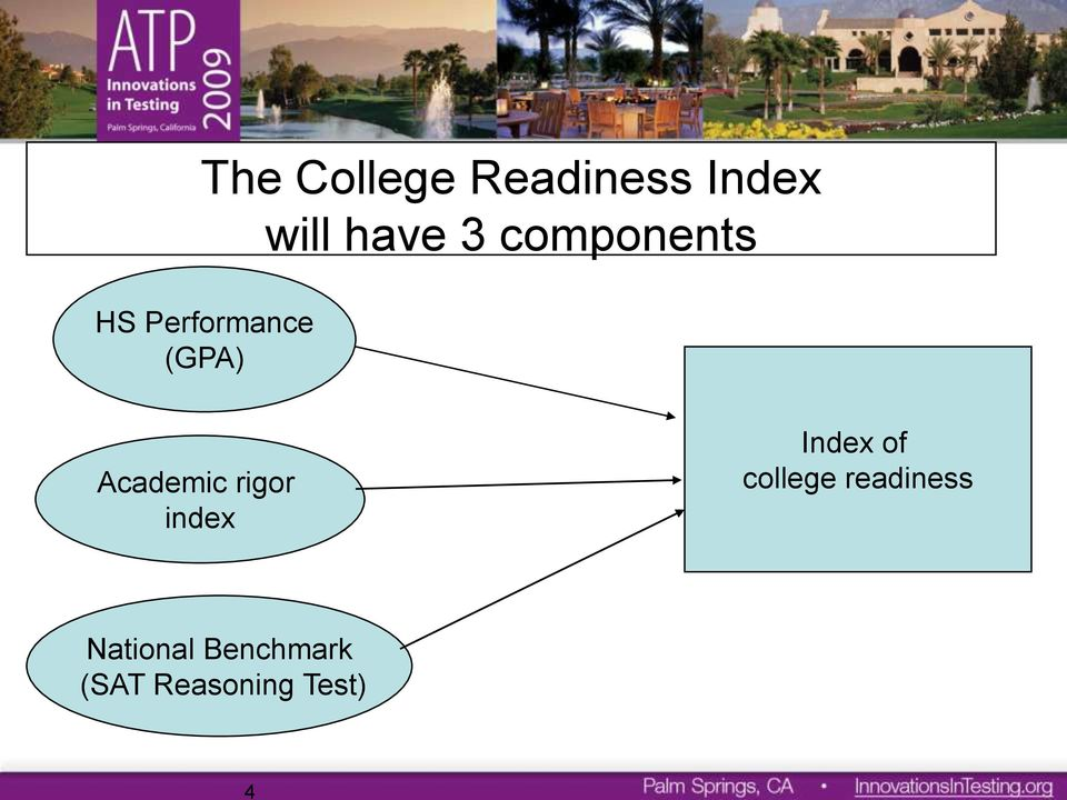 Academic rigor index Index of college