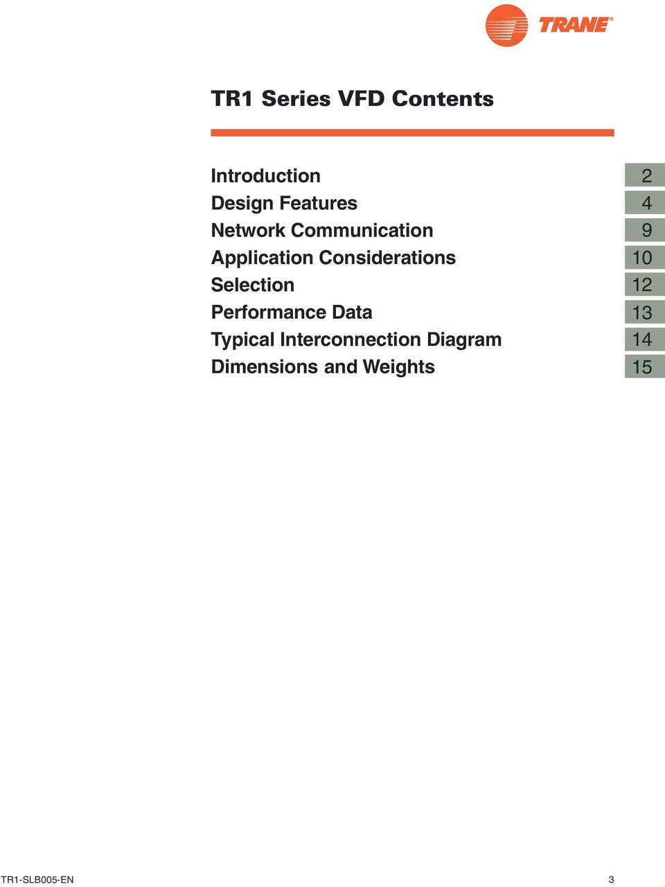 Tr1 Series Vfd Variable Frequency Drives Slb005 En Pdf Trane Wiring Diagrams Selection Performance Data Typical