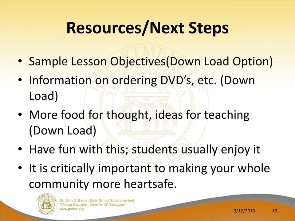 (Down Load) More food for thought, ideas for teaching (Down Load) Have fun