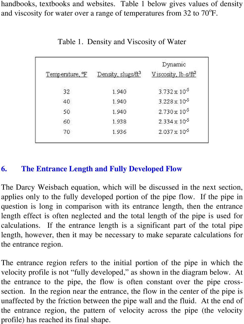 If the pipe in question is long in comparison with its entrance length, then the entrance length effect is often neglected and the total length of the pipe is used for calculations.