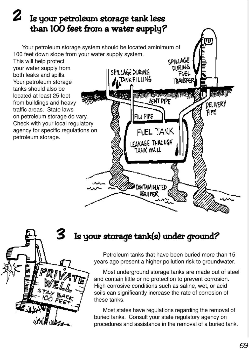 State laws on petroleum storage do vary. Check with your local regulatory agency for specific regulations on petroleum storage. 3 Is your storage tank(s) under ground?