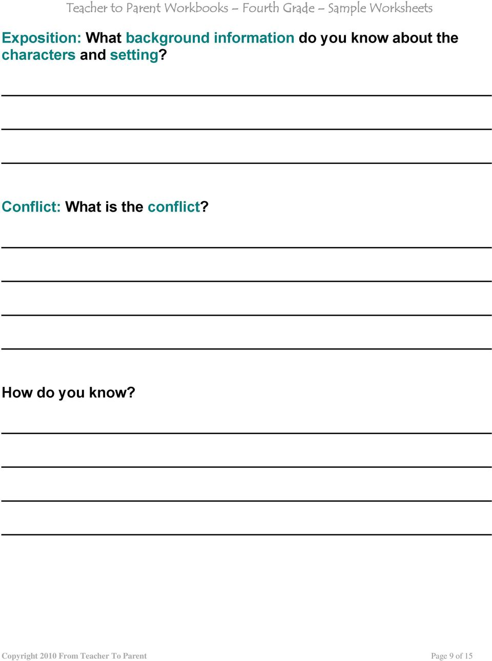 Conflict: What is the conflict?