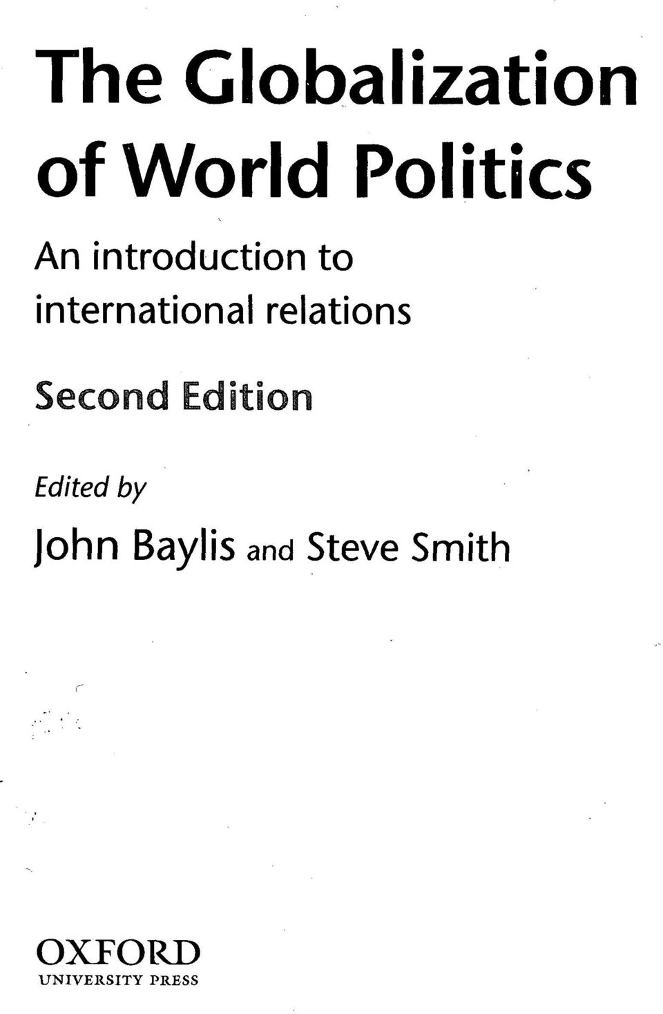 relations Second Edition Edited by