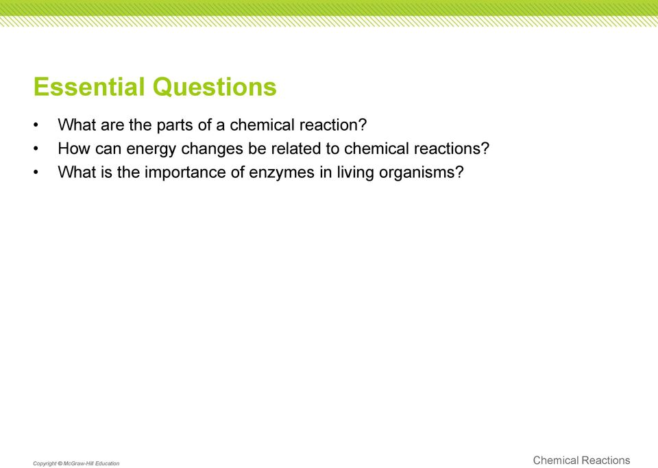 How can energy changes be related to