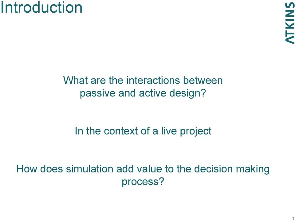 In the context of a live project How does