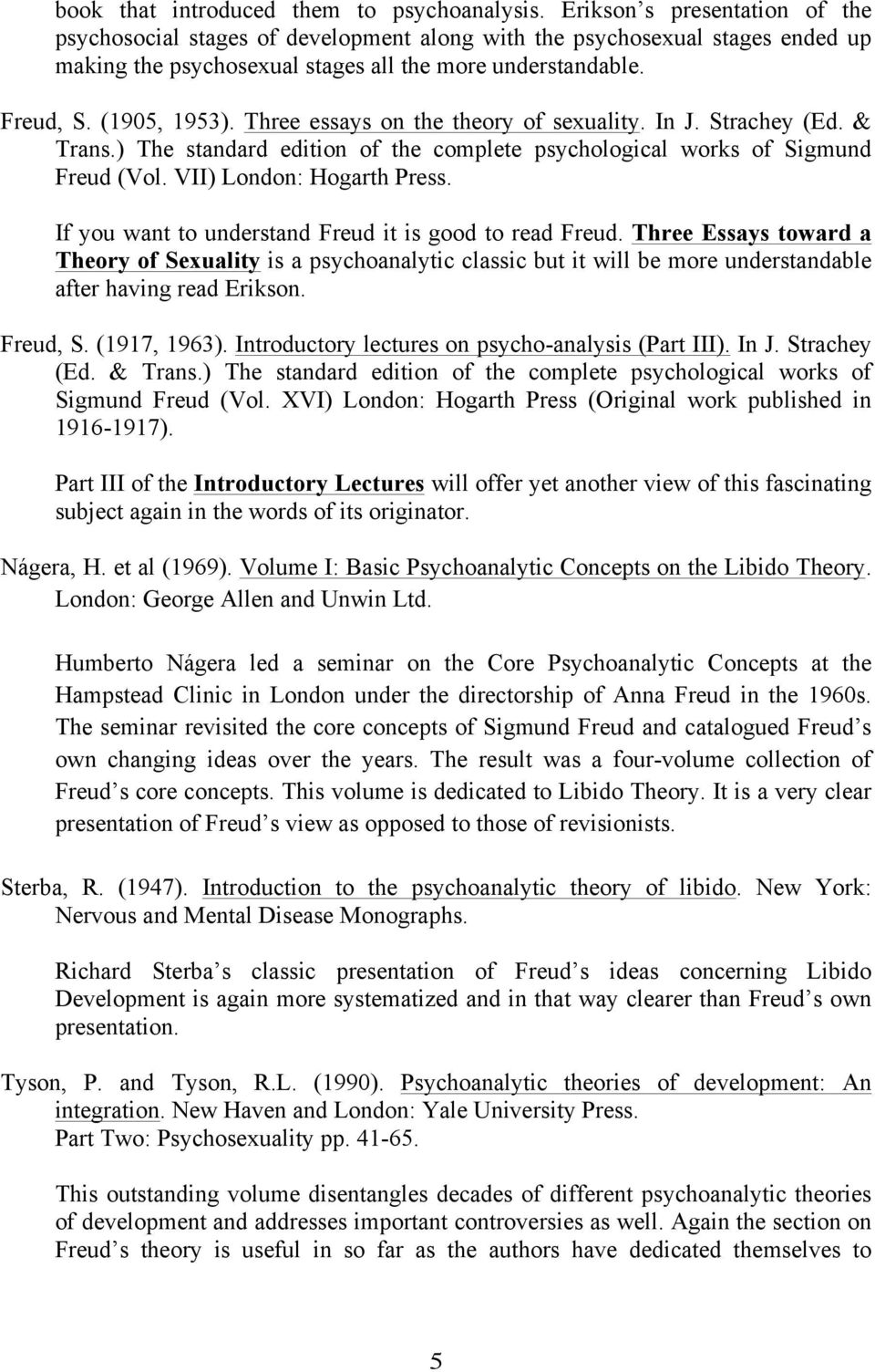 Freuds psychosexual stages worksheet