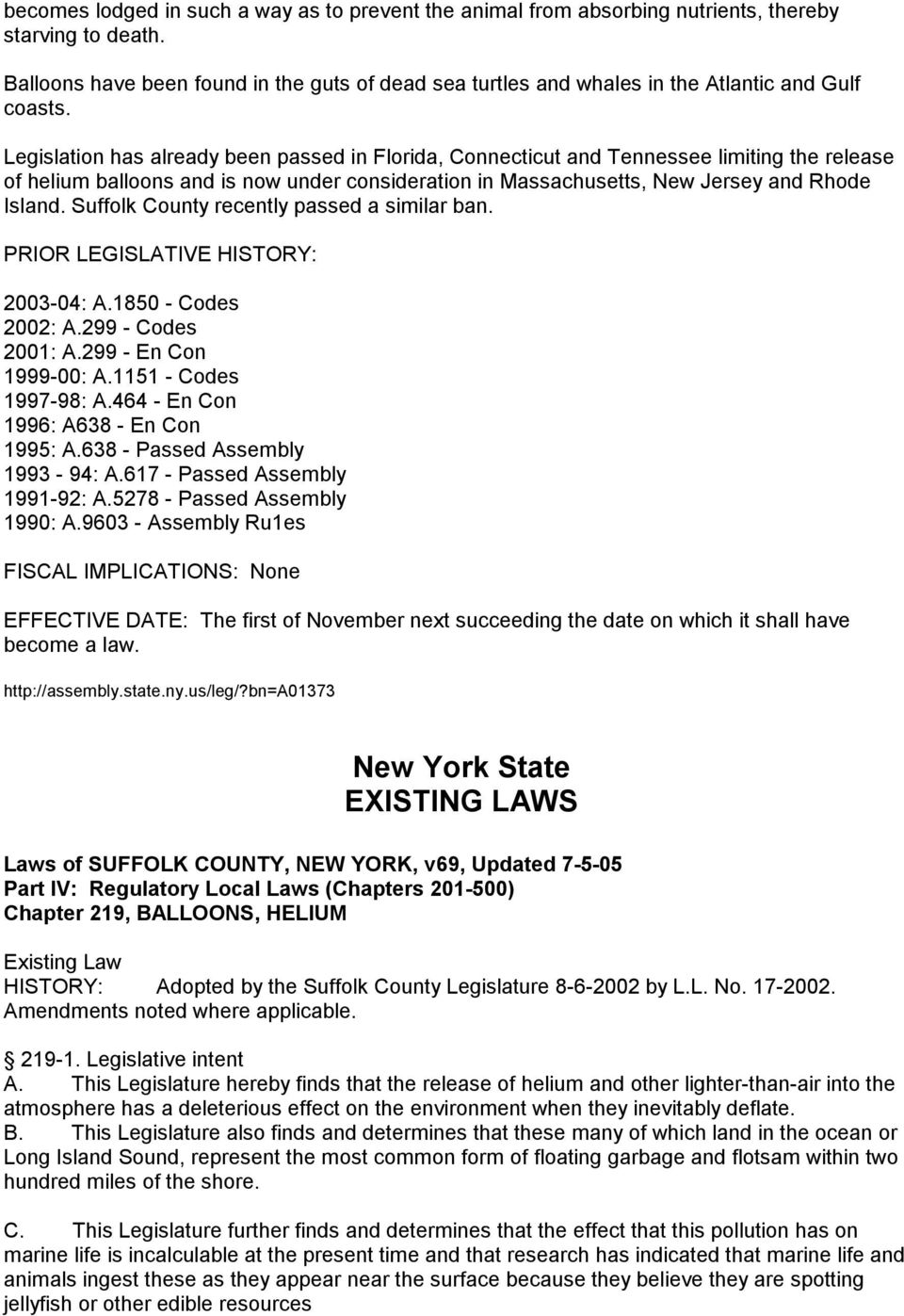 new york state bills and laws concerning balloons pdf